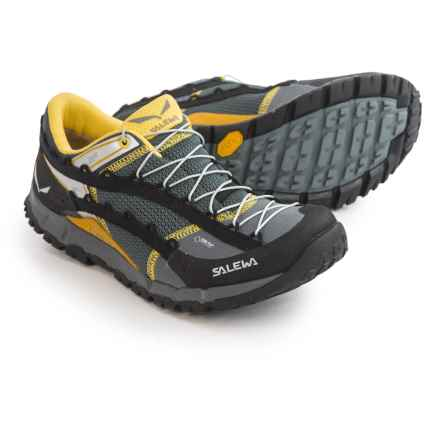 Salewa Speed Ascent Gore-Tex® Trail Running Shoes - Waterproof (For Men) in Black/Yellow - Closeouts
