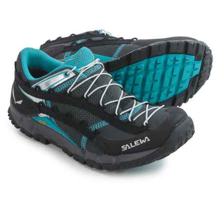 Salewa Speed Ascent Trail Running Shoes (For Women) in Carbon/Pagoda - Closeouts