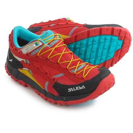 Salewa Speed Ascent Trail Running Shoes (For Women) in Firebrick/Silvretta - Closeouts