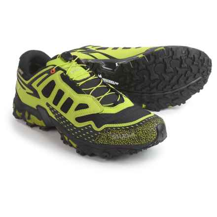 Salewa Ultra Train Gore-Tex® Trail Running Shoes - Waterproof (For Men) in Black Out/Green - Closeouts