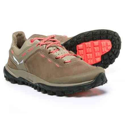 Salewa Wander Hiker Hiking Shoes - Nubuck (For Women) in Other Nut/Hot Coral - Closeouts