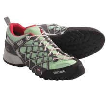 Salewa Wildfire Gore-Tex® Trail Shoes - Waterproof (For Women) in Pastelgreen/Pink - Closeouts