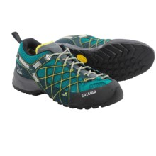 Salewa Wildfire Gore-Tex® Trail Shoes - Waterproof (For Women) in Venom/Cypress - Closeouts