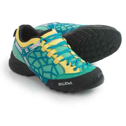 Salewa Wildfire Pro Hiking Shoes (For Women) in Bright Acqua/Reef - Closeouts