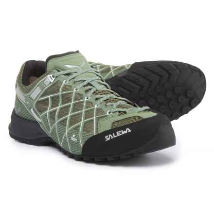 Salewa Wildfire S Gore-Tex® Hiking Shoes - Waterproof (For Men) in Capulet Olive/White - Closeouts