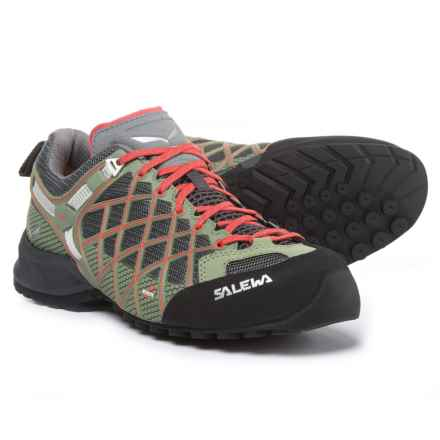 Salewa Wildfire S Gore-Tex® Hiking Shoes - Waterproof (For Women) in Magnet/Hot Coral - Closeouts