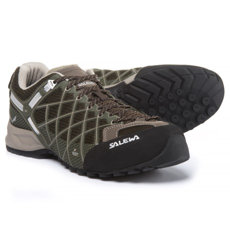 Salewa Wildfire Vent Hiking Shoes (For Men) in Black/Juta