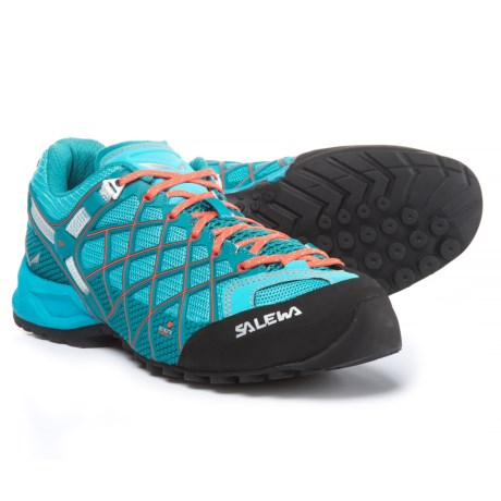 Salewa Wildfire Vent Hiking Shoes For Women in River BlueClementine