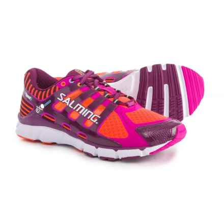 Salming Speed 5 Running Shoes (For Women) in Shocking Orange/Dark Orchid - Closeouts