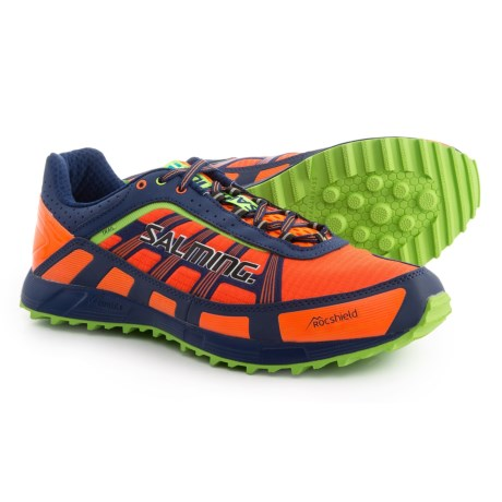Salming Trail T3 Trail Running Shoes (For Men) in Shocking Orange/Deep Blue