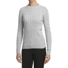 Salmon Cove Cotton Cable-Knit Sweater (For Women) in White - Closeouts