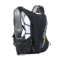 Salomon Advanced Skin S-Lab 12 Set Hydration Backpack - 1.5L (For Men and Women) in Black/White - Closeouts