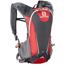 Salomon Agile 7 Hydration Backpack Set- 70 fl.oz. in Bright Red/Asphalt - Closeouts