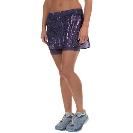 Salomon Agile Skort - UPF 50, Built-In Shorts (For Women) in Nightshade Grey - Closeouts