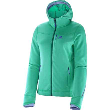 Salomon BC Smartskin Jacket - Polartec® Power Stretch® Pro, Hooded (For Women) in Cascade Green - Closeouts
