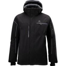 Salomon Brillant Jacket - Waterproof, Insulated (For Men) in Black - Closeouts