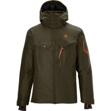 Salomon Cadabra Jacket - Waterproof, Insulated (For Men) in Bayou Green - Closeouts