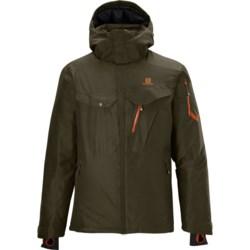 Salomon Cadabra Jacket - Waterproof, Insulated (For Men) in Water Polo