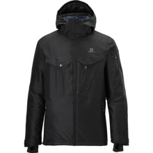 Salomon Cadabra Jacket - Waterproof, Insulated (For Men) in Black - Closeouts