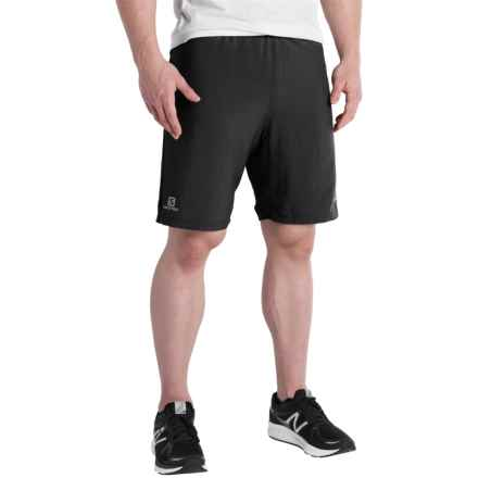 "Salomon Cairn 2-in-1 Running Shorts - 8"" (For Men) in Black - Closeouts"