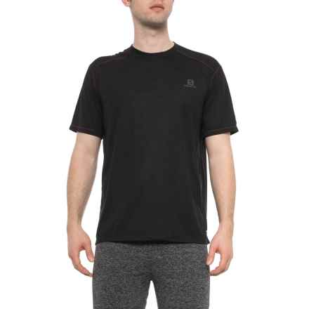 Salomon Cairn T-Shirt - Short Sleeve (For Men) in Black Heather - Closeouts
