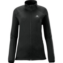 Salomon Charvin Soft Shell Jacket - Windproof (For Women) in Black - Closeouts