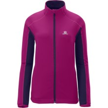 Salomon Charvin Soft Shell Jacket - Windproof (For Women) in Wild Berry/Wizard Violet - Closeouts