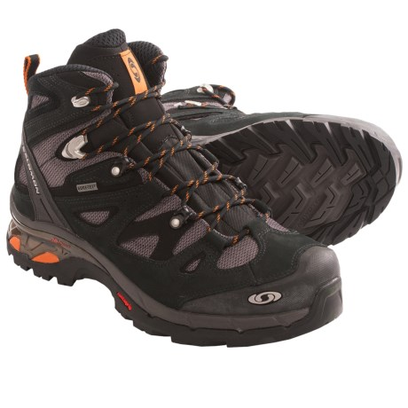 Salomon Comet 3D Gore-Tex® Backpacking Boots - Waterproof (For Men) in Black/Autobahn/Ginger