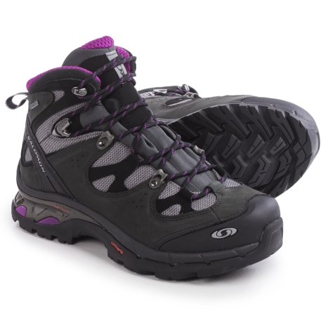 Salomon Comet 3D Gore-Tex® Hiking Boots - Waterproof (For Women) in Pewter/Asphalt/Anemone Purple