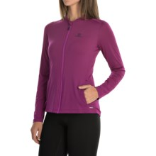 Salomon Comet Hoodie - UPF 50 (For Women) in Aster Purple - Closeouts