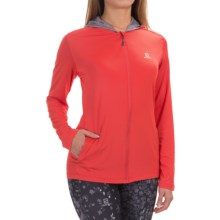 Salomon Comet Hoodie - UPF 50 (For Women) in Infrared - Closeouts