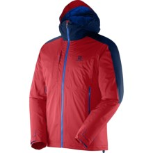 Salomon Cyclone Trekking Gore-Tex® Jacket - Waterproof, Insulated (For Men) in Red/Midnight Blue - Closeouts