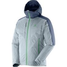 Salomon Cyclone Trekking Gore-Tex® Jacket - Waterproof, Insulated (For Men) in Shadow Grey/Blue Gris - Closeouts