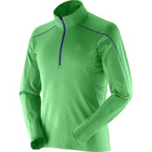 Salomon Discovery 2 Fleece Pullover Shirt - Zip Neck, Long Sleeve (For Men) in Bud Green/Bud Green - Closeouts