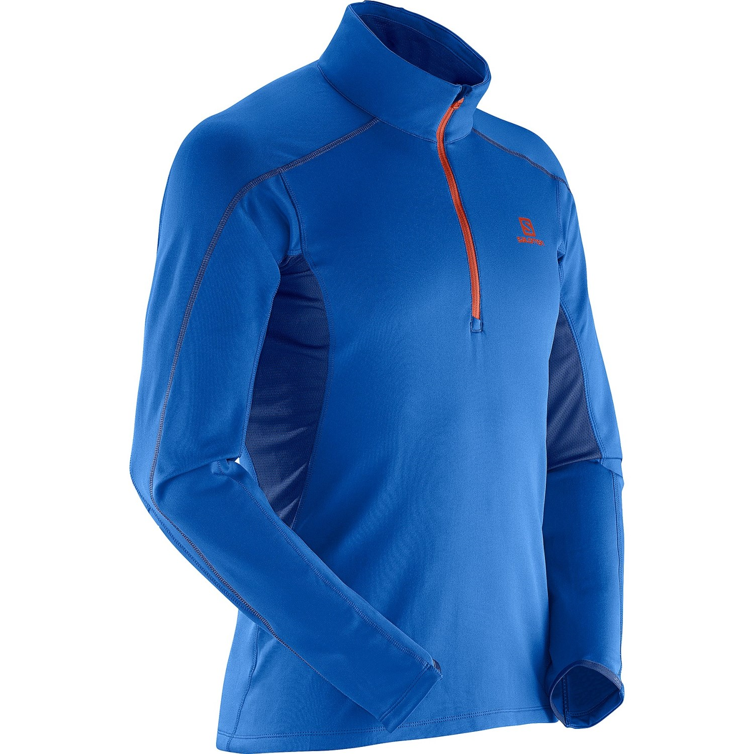 Salomon discovery 2 fleece pullover shirt for men save 58 for Mens long sleeve pullover shirts