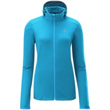Salomon Discovery Fleece Jacket - Hooded (For Women) in Boss Blue - Closeouts