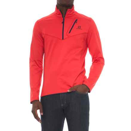 Salomon Discovery Flowtech Jacket - Zip Neck, Insulated (For Men) in Matador - Closeouts