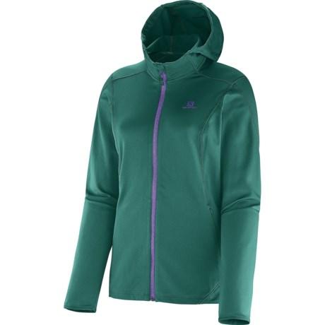 photo: Salomon Women's Discovery Hooded Midlayer fleece jacket