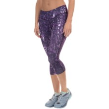 Salomon Elevate 3/4 Tights - UPF 50 (For Women) in Nightshade Grey - Closeouts