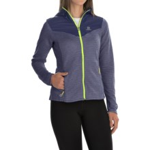 Salomon Elevate Midlayer Hoodie - UPF 50, Insulated (For Women) in Nightshade Grey - Closeouts