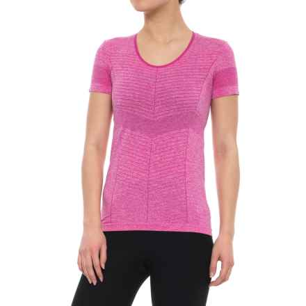 Salomon Elevate Seamless T-Shirt - Short Sleeve (For Women) in Rose Violet - Closeouts