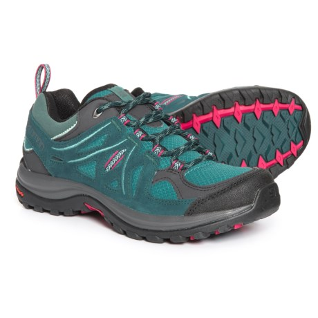 Salomon Ellipse 2 Aero Hiking Shoes (For Women) in Artic/Reflecting Pond/Sangria