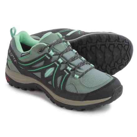 Salomon Ellipse 2 Climashield® Hiking Shoes - Waterproof (For Women) in Titanium/Asphalt/Jade Green - Closeouts