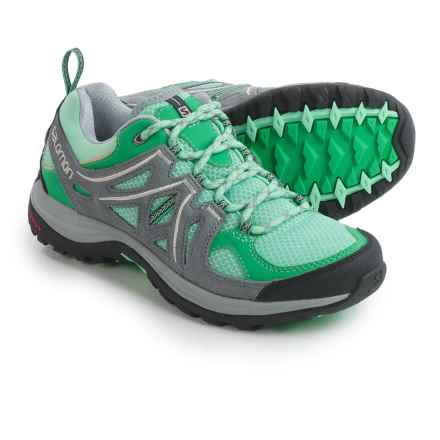 Salomon Ellipse Aero Trail Shoes (For Women) in Lucite Green/Grey - Closeouts