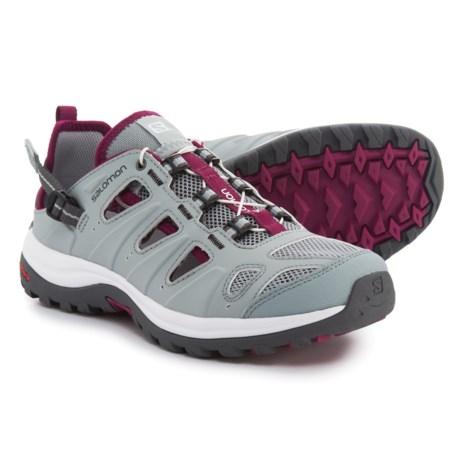 Salomon Ellipse Cabrio Water Shoes (For Women) in Light Onix/White/Mystic Purple