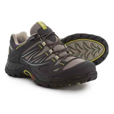 Salomon Ellipse Gore-Tex® USA Hiking Shoes - Waterproof (For Women) in Thyme/Asphalt/Dark S-Green - Closeouts