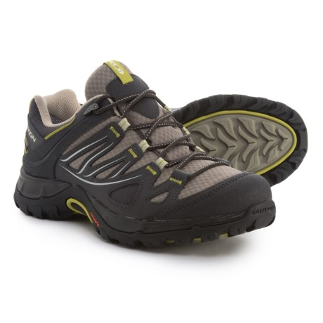 Salomon Ellipse Gore-Tex® USA Hiking Shoes - Waterproof (For Women) in Thyme/Asphalt/Dark S-Green