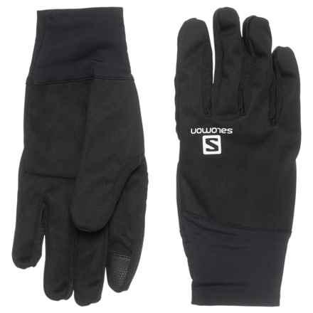Salomon Equipe Gloves - Touchscreen Compatible (For Men) in Black - Closeouts