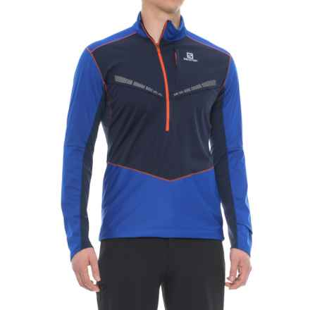 Salomon Equipe Midlayer Jacket - Zip Neck (For Men) in Blue Yonder/Big Blue - Closeouts