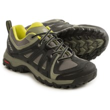 Salomon Evasion Aero Hiking Shoes (For Men) in Asphalt/Tempest/Gecko Green - Closeouts
